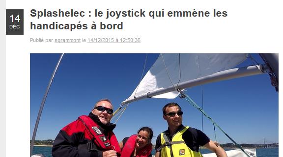 2015-12-14 - France 3 Bretagne - Soyons Smart - Le joystick qui emmene les handicapes A bord