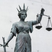 statue of Themis outside the law courts